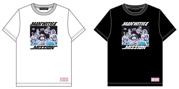 MAN WITH A MISSION×Candy StripperコラボTシャツ、たまアリ公演より販売決定 - MAN WITH A MISSION仕様カラー 宇宙Tシャツ