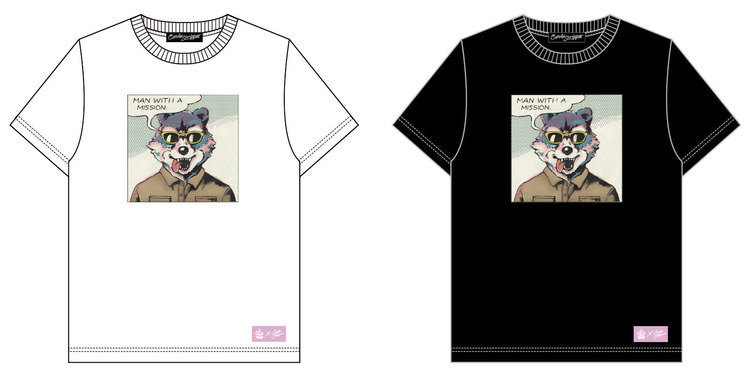 MAN WITH A MISSION×Candy StripperコラボTシャツ、たまアリ公演より販売決定 - MAN WITH A MISSION仕様カラー アメコミTシャツ