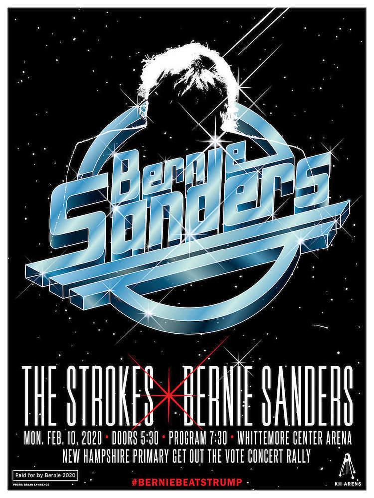 ザ・ストロークスが大統領候補、バーニー・サンダースの支援ライブを ...