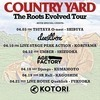 "COUNTRY YARD、3月にAL『The Roots Evolved』発売。リリースツアーゲスト第1弾も発表 - 「COUNTRY YARD ""The Roots Evolved Tour""」"