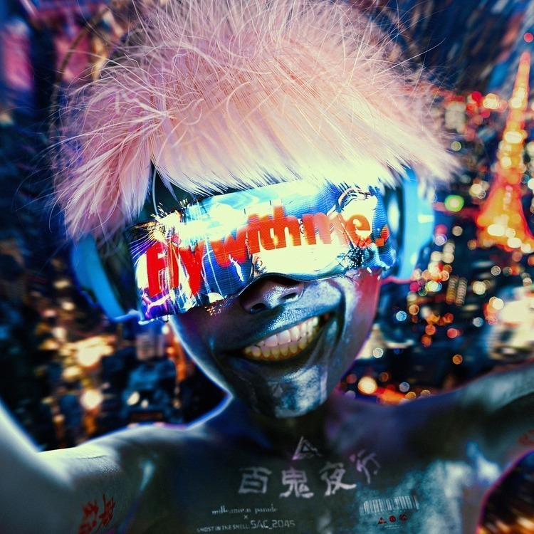 "millennium parade、『攻殻機動隊』OPテーマ""Fly with me""のリリースが決定 - 『Fly with me』millennium parade × ghost in the shell: SAC_2045"