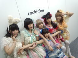 でんぱ組.inc in rockin'on inc.